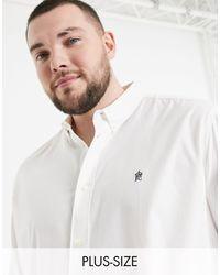 French Connection Белая Оксфордская Рубашка На Пуговицах С Логотипом Plus-белый