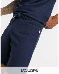 Jack & Jones Темно-синие Трикотажные Шорты От Комплекта Premium Эксклюзивно На Asos-темно-синий