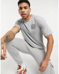 Herschel Supply Co. Crew Neck Chest Print T-shirt - Grey