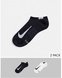 Nike – Unsichtbare Socken im 2er-Pack - Weiß