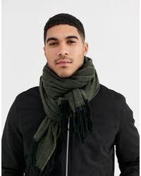 ASOS Grote Geweven Sjaal Met Structuur - Meerkleurig
