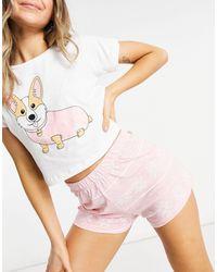 Brave Soul Розовая Пижама С Футболкой И Шортами -розовый Цвет