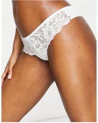 Gossard Lace Thong - White