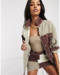 Jaded London Oversized Jacket - Brown