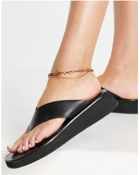 ASOS Multirow Anklet With Twisted Thread And Fine Chain - Metallic