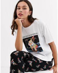 ASOS Disney - Pyjamaset Met Shirt En legging Met Pinokkioprint - Meerkleurig