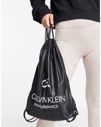 Calvin Klein Mochila negra con cordón ajustable - Negro