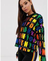 DKNY Pride - Felpa con cappuccio e logo multi - Multicolore
