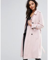 Pimkie Double Breasted Trench Coat - Pink