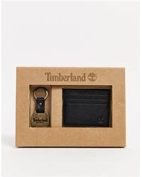 Timberland Coffret-cadeau porte-cartes et porte-clés - Noir