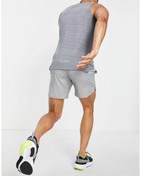 Nike Серые Шорты Длиной 7 Дюймов Dri-fit Flex Stride-серый