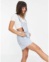 Levi's Denim Dungaree Shorts - Blue