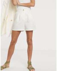 Pieces Tailored City Shorts - White