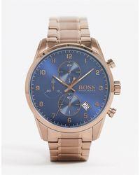BOSS by Hugo Boss Золотистые Наручные Часы С Хронографом 1513788-золотой - Металлик