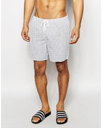 New Look - Striped Swim Shorts In Blue And White - Lyst