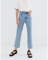 Weekday Voyage Organic Cotton Straight Leg Jeans - Blue