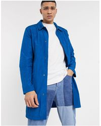 ASOS Lightweight Trench Coat - Blue