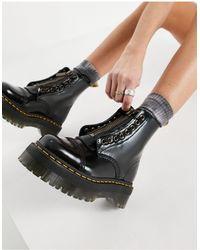 Dr. Martens Черные Кожаные Ботинки Sinclair-черный Цвет