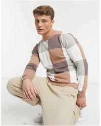 Another Influence Облегающий Коричневый Джемпер С Круглым Вырезом Aray-коричневый Цвет