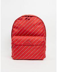 Karl Lagerfeld Красный Рюкзак С Полосками Из Логотипов
