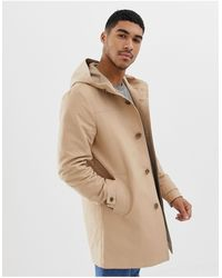 ASOS Shower Resistant Hooded Trench Coat - Natural