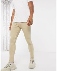 ASOS Spray On Jeans With Powerstretch - Natural