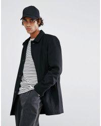 Clean Cut Copenhagen Wool Harrington Jacket Quilted Lining - Black