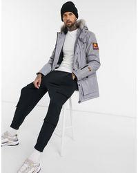 Ellesse - Парка-куртка С Капюшоном И Искусственным Мехом Reflective-серебряный - Lyst
