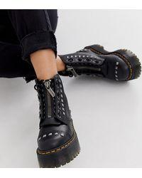 Dr. Martens Botas gruesas negras con tachuelas Sinclair exclusivas - Negro