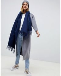 ASOS - Oversized Wool Scarf With Tassels - Lyst