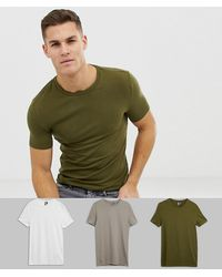 ASOS Organic T-shirt With Crew Neck In Green