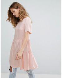 Vero Moda - Tiered Smock Dress - Lyst