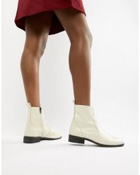 Office - Ashleigh White Leather Calf Boots - Lyst