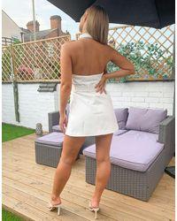 4th & Reckless Robe blazer courte sans manches - Blanc