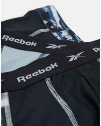 Reebok Набор Из 3 Черных/серых Удлиненных Боксеров-брифов -многоцветный