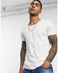 ASOS T-shirt With Scoop Neck - White