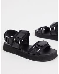 Missguided Sandals With Buckle Detail - Black