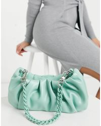 ASOS Ruched Slouchy Shoulder Bag With Detachable Multi Strap - Green