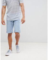 Esprit - Slim Fit 5 Pocket Shorts In Blue - Lyst