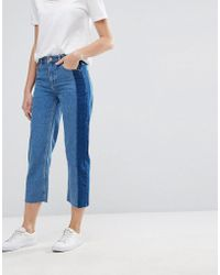 Warehouse | Stripe Detail Cropped Jeans | Lyst