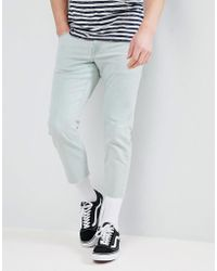 ASOS Slim Jeans In Bleached Down Wash - Blue
