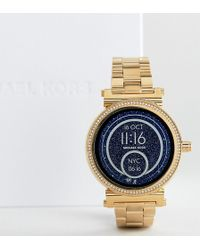 Michael Kors - Access Mkt5021 Sofie Bracelet Smart Watch In Gold - Lyst