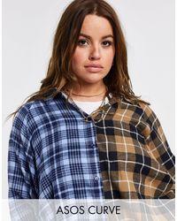 ASOS Asos Design Curve Boyfriend Shirt - Blue