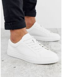 Jack & Jones Premium Faux Leather Sneaker - White