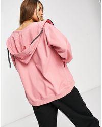 Public Desire Oversized Zip Through Hoodie - Pink