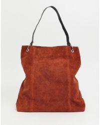 ASOS - Suede Ring Detail Shopper Bag - Lyst