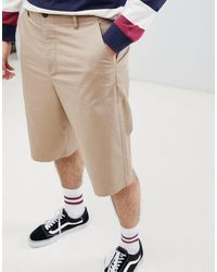 ASOS Skater Longer Length Shorts - Natural
