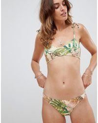 Vitamin A - Palm Print Luciana Full Cut Bikini Bottom - Lyst