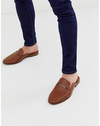 New Look Backless Loafers In Tan - Brown