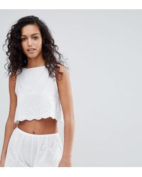 Wolf & Whistle - Broderie Anglais Short Pyjama Set - Lyst